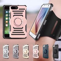 Wholesale Customized Fitness - For Samsung S8 Plus Sports Running Case For Iphone 7 6 6s Plus Internal Magnetic Multifunction Workout Fitness Armband Holder With OPPBAG