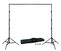 Wholesale Background Muslin Kit - Wholesale- DHL 10Ft X 6.5Ft FREE BACKGROUND HOLDER 3M X 2M Adjustable Muslin Background Backdrop Support System Stand Kit Carrying Bag