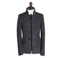 Wholesale Casaco Inverno Masculino - Grey 2017 winter casual woolen coat men stand collar overcoat mens cashmere coat casaco masculino inverno erkek england jacket