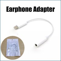 Wholesale For iPhone7 Earphone Headphone Jack Adapter Connector Cable mm For iPhone Plus Plus Headset Connector Splitter with Package
