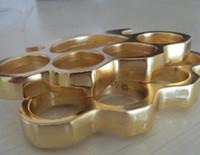 juntas de latão frete grátis venda por atacado-Espessura 12mm BRONZE KNUCKLES KNUCKLE DUSTER prata Ouro frete grátis