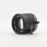 объектив микроскопа для камеры оптовых-C mount lens 10MP 35mm 1:1.8 HD промышленная камера фиксированный ручной Ирис фокус зум-объектив для промышленного микроскопа