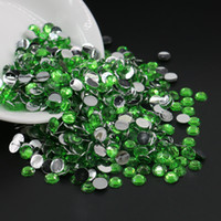 Wholesale Round Bling Beads - All Size Peridot Resin Rhinestones, 14 Facets Flatback Resin Beads, DIY Deco Bling Rhinestones 3mm,4mm,5mm,6mm
