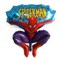 Compra Palloncini Spiderman-Cartoni Balloons alluminio Felice Spiderman Red Balloon per il matrimonio Cartoni Birthday Party Decoration Foil Palloncino DHL