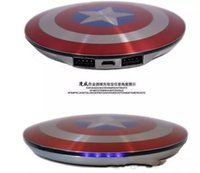 Powerbank 6800 mAh Captain America Power bank USB ladegerät für smart handy 6800 mah Universal Tragbare externe batterie gut