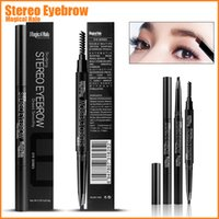 Wholesale Tow Eye - 5 Colors Stereo Eyebrow Magical Halo Automatic Eyebrow Enhancer with Tow Head Beauty Makeup Tool for Eye