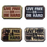 VP-208 CALDO! Morale ricamato patch LIVE GRATUITO o DIE HARD Tactical Badge Armband Iron su patch per CAP / giacca ricamo militare patch