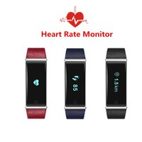 Wholesale Male Vibrating - Innovation Heart Rate Smart Band QS60 ECD Monitoring Vibrate Fitness Smart Bracelet OLED Touch Panel for Android IOS Phones
