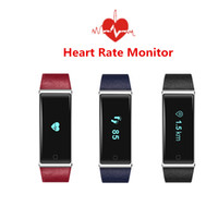ingrosso pannello oled-Intelligente frequenza cardiaca Smart Band QS60 ECD Monitoraggio Vibrazione Fitness Smart Braccialetto OLED Touch Panel per telefoni Android IOS