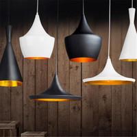 Wholesale Fat Art - Tom Dixon (Tall, Fat & Wide) Pendant Lamp Creative DIY Aluminum Pendant Lights Black White Restaurant   Bar Chandeliers Light Lights