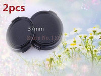 Wholesale 37mm Cap - Wholesale-2Pcs x Lens Cap   Lens Cover protection 37mm for lympus E-P3 E-PL3 E-PL2 All 37mm Filter Thread Lens.new Free Shipping