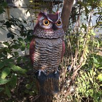 Wholesale ZILIN factory wind action owl decoy plastic rotating head owl garden ornament and defence bird repellent