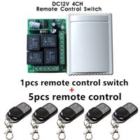 Wholesale rf module 433 - Wholesale- 433Mhz Universal Wireless Remote Control Switch DC12V 4CH relay Receiver Module and 5pcs 4 channel RF Remote 433 Mhz Transmitter