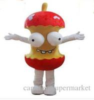 animar manzana al por mayor-2017 de Alta Calidad Material de EVA Casco Animado humor de dibujos animados de la mascota de la manzana traje de Navidad Halloween para adultos ropa envío libre del ccsme