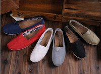 Wholesale Canvas Slip Shoes Single - hot brand new women and men canvas shoes canvas flats loafers casual single shoes