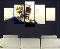 Wholesale dragon sheets - Canvas Printed Carton Hd Vegeta Dragon Ball Z Super Saiyan Painting Home Decorative Wall Picture Cuadros Decoration no frame