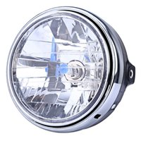 Wholesale Round Headlamp - 12V Motorcycle Crystal Round Headlight Modified Headlamp Assembly for Honda Bumblebee CB400   900 Clear Signal Indicates