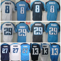 Wholesale Eddie Murray Jersey - Wholesale #27 Eddie George Jersey Cheap Color Rush #29 DeMarco Murray #8 Marcus Mariota Best Quality Blue White #13 Kendall Wright Jerseys