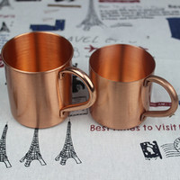outer shell - Stainless Steel Plated Copper Glass Russian Standard Moscow Mule Copper Mug Barware Drinking Beer Outer Shell Office Beer Tankard