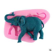Wholesale Elephant Soap - Elephant Shaped Silicone Soap Molds 3D Non-Stick Handmade Chocolate Candy Mold Fondant Cake Animal Moulds Decorating Tools 352