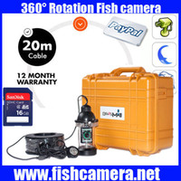 Kit fotocamera subacquea Mini Fish finder CCD700TVL per Ice Fishing Camera Kit Portable Night Vision Fish Finder con DVR 20m-100m cavo
