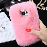 Rex Rabbit Skin Phone Case pour Huawei P8 Lite P9 Lite P10 Mate 7 8 9 Couches Fuzzy pour Cute Rhinestone Luxury Phone Fundas Cover