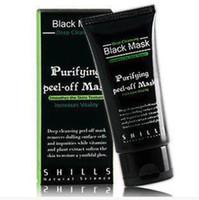 чистая прозрачная обработка угрей оптовых-SHILLS Черная маска 50 мл глубокое очищение очищающий шелушиться Черная маска для лица удалить угорь пил бесплатная доставка