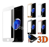 Wholesale Iphone Glass Screen Dhl - 3D Full Curved Tempered Glass Screen Protector Carbon For Apple iPhone 6 6s 7 7 Plus High Quality 9H With Retail Packaging DHL
