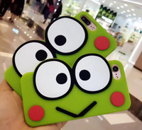 Wholesale Iphone Frog Case - 3D Cute Eye Frog cartoon silicon case animal cell phone cover For iphone 5 5S SE 6 6S plus 5.5 8 7plus
