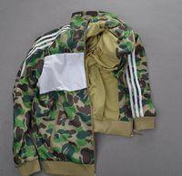Wholesale Teenage Coats - men jacket New Spring Autumn Fashion Trend Street Wgm Yokosuka Embroidery Camouflage Shark Ma1 Teenage Air Force Jacket Outerwear Coat