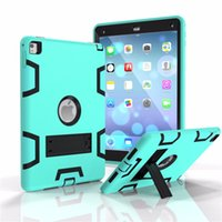 Wholesale Ipad Rubber Skin - Shockproof Heavy Duty Protect Skin Rubber Hybrid FUll Coverage Case With Stander for Apple Ipad 2 3 4 mini 1 2 3 Air 1 2 Tablet case