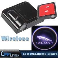 porte j achat en gros de-3W Car Door Led HD Bienvenue Projecteur laser Logo Ghost Shadow Light pour J AGUAR