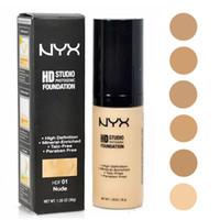 neues make-up gesicht pulver großhandel-New NYX HD Studio Photogene Foundation Pulver NYX Flüssige Foundation Make-up NYX Face Foundation 6 Farben DHL Versand