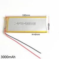 Wholesale Lithium Battery Bank - Model 6040100 3.7V 3000mAh Lithium Polymer LiPo Rechargeable Battery For PAD mobile phone GPS power bank Camera E-books Recoder TV box