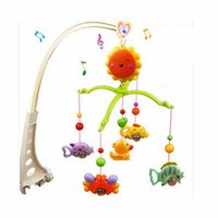 Wholesale Musical Bells For Children - Wholesale- New Arrival Funny Baby Hand Bed Crib Wind up Musical Hanging Rotate Bell Ring Rattle Mobile Toy Gift For Baby Children Kids