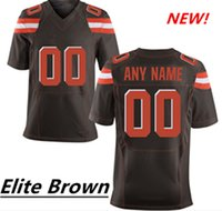 Wholesale Custom Elite Football Jerseys - HOT SALE!!Men's New Cleveland Custom Elite Football Jerseys High Quality & Stitched Any Name & Number You Decide Three Colors Allowed