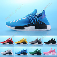 Wholesale Hard Gift Boxes - Cheap New 2017 Top Gift Shoes Sneakers NMD HumanRace Hot mens Running Shoes sneakers for men Couple Race shoes Human Race Eur 36-45 With Box