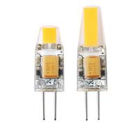 ampoules led g4 6w 12v achat en gros de-G4 LED Dimmable 12V AC / DC COB Lumière 3W 6W LED G4 COB Lampe Ampoule Lustre Lampes Remplacez la garantie de lumière halogène 3 ans