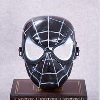 máscaras de superhéroes negros al por mayor-Spiderman Máscara de cara completa Popular Red Black Spiderman Superhero Máscara de niños Masquerady Halloween Cosplay Máscaras fiesta
