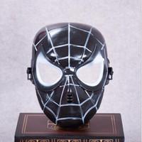 máscaras de super-heróis negros venda por atacado-Spiderman Máscara Facial Completa Popular Vermelho Preto Spiderman Superhero Crianças Máscara Masquerady Halloween Cosplay Máscaras de Festa