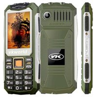 Wholesale Card Phone Gsm Quad - VKWORLD V3S Feature Phone With 2.4Inch Screen Quad Band Dustproof Shockproof GSM Unlocked Cell Phones