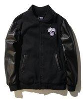 Wholesale Splash Suit - Europe and the United States hip hop street tide brand Yu Wenle men splashing leather suitcase casual jacket jacket baseball suit