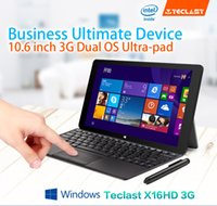 Wholesale Tablet Gps System 3g - Wholesale- Newest10.6 Inch Teclast X16HD 3G Dual System Z3735f Z3736f Tablet PC Android4.4+Windows8.1 1920x1080 2GB DDR3L 32 64GB