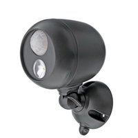 Ultra brillante de 300 lúmenes de luz impermeable inalámbrico Powered LED Spotlight con sensor de movimiento (3w llevó bombillas, inalámbrico) lámparas de pared