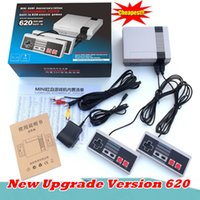 Wholesale Dual Video Game - New Retro Mini TV Handheld Game Console Video Game Console For Nes Games Built-in 620 Different Games PAL&NTSC dual gamepad pad