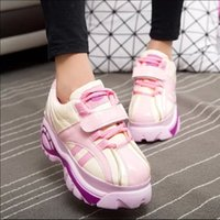Wholesale Japanese Platforms Shoes - wholesale Japanese Harajuku shoes women candy mixed colors platform shoes retro Increased within shoes creepers x511 35