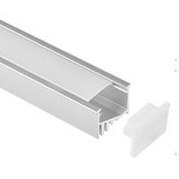 cubierta de perfil de tira de led al por mayor-perfil de aluminio led, 1 m por pieza, perfil de extrusión de aluminio LED para tiras led con cubierta difusa lechosa o cubierta transparente SN2113