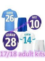 Wholesale Marseille Football Kit - top Quality 17 18 Olympique de Marseille man Adult kits Soccer Jersey 2017 Batshuayi Gignac Maillot de Foot Payet Lass football Shirts