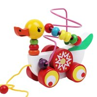 Vente en gros - Duckling Trailer Mini Around Beads Educational Game Jouets pour enfants Enfants