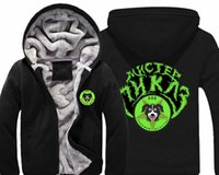 Wholesale Mr Color - Anime Mr Pickles Hoodie Mens Casual Winter Thick Warm Doge Print Coat Zip Sweatshirt Hooded US Size M-3XL Free shipping